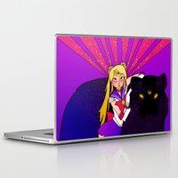 sailor moon Laptop & iPad Skins featuring SAILOR MOON by SMOKESINATRA