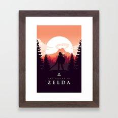 The Legend Of Zelda - Or… Framed Art Print