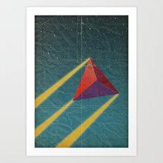 tetrahedra of space Art Print