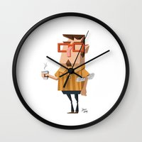 Carl Cappuccino  Wall Clock