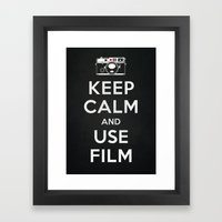 Keep Calm And Use Film Framed Art Print