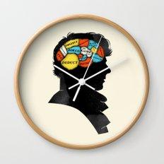 Sherlock Phrenology Wall Clock
