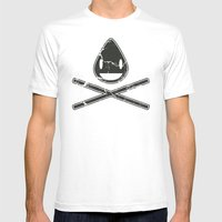 Cross-Staw Distressed Mens Fitted Tee White SMALL
