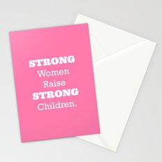 Strong Women - Pink.  Stationery Cards