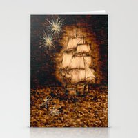 peter pan Stationery Cards featuring Peter Pan by Red, the artist
