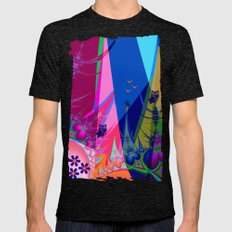 Artistic Dreamland With … Mens Fitted Tee Tri-Black SMALL