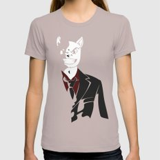 Business Cat Womens Fitted Tee Cinder SMALL