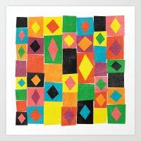 Elementary Diamonds. Art Print