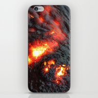 Flaming Seashell 4 iPhone & iPod Skin
