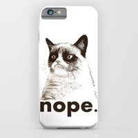 iPhone & iPod Case featuring NOPE - Grumpy cat. by John Medbury (LAZY J Studios)