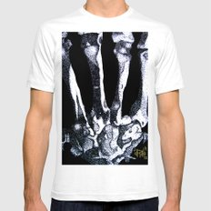 Hand Bones Mens Fitted Tee White SMALL