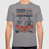 The Great 'Stache Clash … Mens Fitted Tee Tri-Grey SMALL