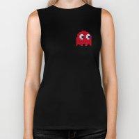 Pac-Man Red Ghost Biker Tank