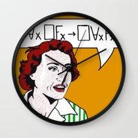 Ruth Barcan Marcus Wall Clock