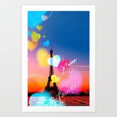 PARIS WITH LOVE Art Print