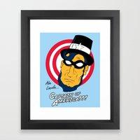Abe, Captain of America Framed Art Print
