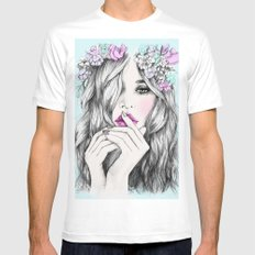 Coup de foudre Mens Fitted Tee White SMALL