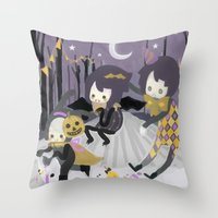 Halloween Walk Throw Pillow