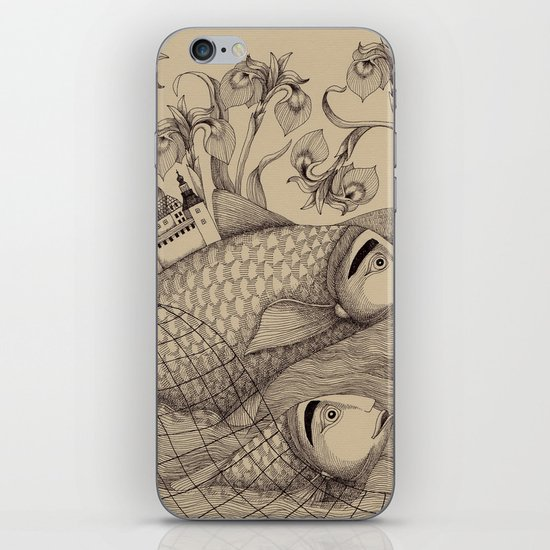 The Golden Fish (1) iPhone & iPod Skin