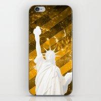 Liberty Gold Pop Art iPhone & iPod Skin
