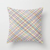 Rainbow Weave 45 Throw Pillow