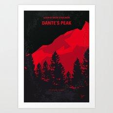 No682 My Dantes Peak minimal movie poster Art Print