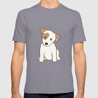 Heart spotted jack Russell Terrier Dog Mens Fitted Tee Slate SMALL