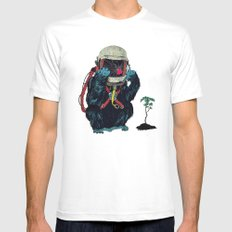 Clams Mens Fitted Tee SMALL White