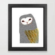 Barn owl, owl art, owl illustration, owls, nature, animal art,  Framed Art Print