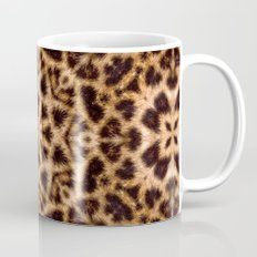 Leopard Fur Abstract Kaleidoscope Print Mug