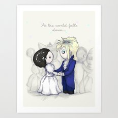 As The World Falls Down … Art Print