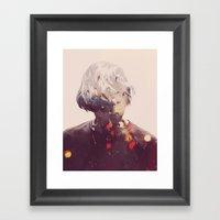 Showers (Double Exposure… Framed Art Print