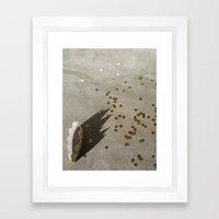 crown + confetti Framed Art Print