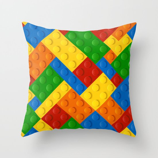 Lego Throw Pillow And Blanket Set : lego Throw Pillow by De4macja Society6
