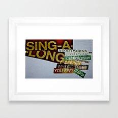 Singalong Framed Art Print