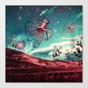 Sunrise Flight on Purple Planet Canvas Print
