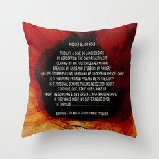A SOULS BLACK HOLE - 032 Throw Pillow
