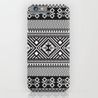 Monochrome Aztec inspired geometric pattern iPhone 6 Slim Case