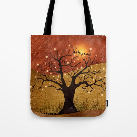 sunset and lights Tote Bag