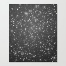 Logic Will Get You From Point A to Point B (Geometric Web/Constellations) Canvas Print