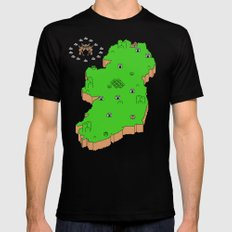 Mario's Emerald  Isle Mens Fitted Tee Black SMALL