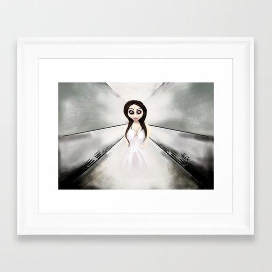I feel like a ghost. Framed Art Print