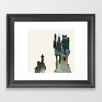 Mountain Castle Framed Art Print