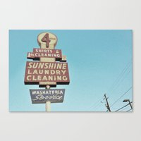 Sunshine Laundry Cleanin… Canvas Print