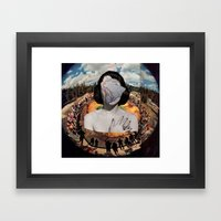 She's In The Middle Of I… Framed Art Print