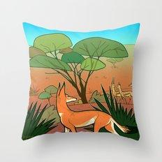 Ethiopian Wolf Throw Pillow