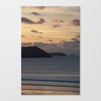 Evening Skies Over Polzeath Canvas Print