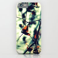 iPhone & iPod Case featuring Aqua Leaves by Erin Mason