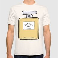 Paris Perfume No. 5 Mens Fitted Tee Natural SMALL