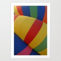 Balloon Stripes Art Print